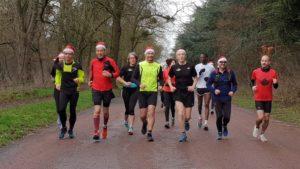 Courir en groupe au Bois de Vincennes